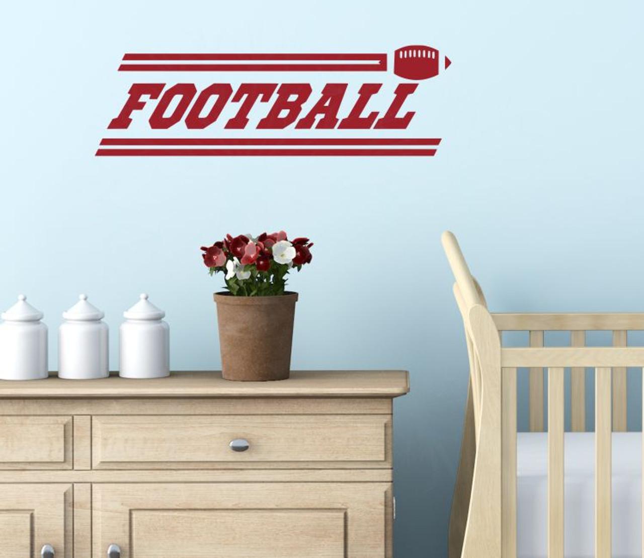Football Boys Wall Stickers Vinyl Lettering Art Sports Decals