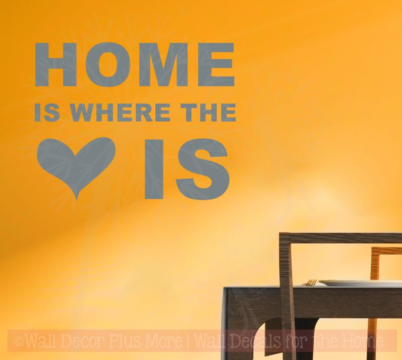 Home Is Where Heart Is Wall Sticker Decals Vinyl Lettering Art Entry ...