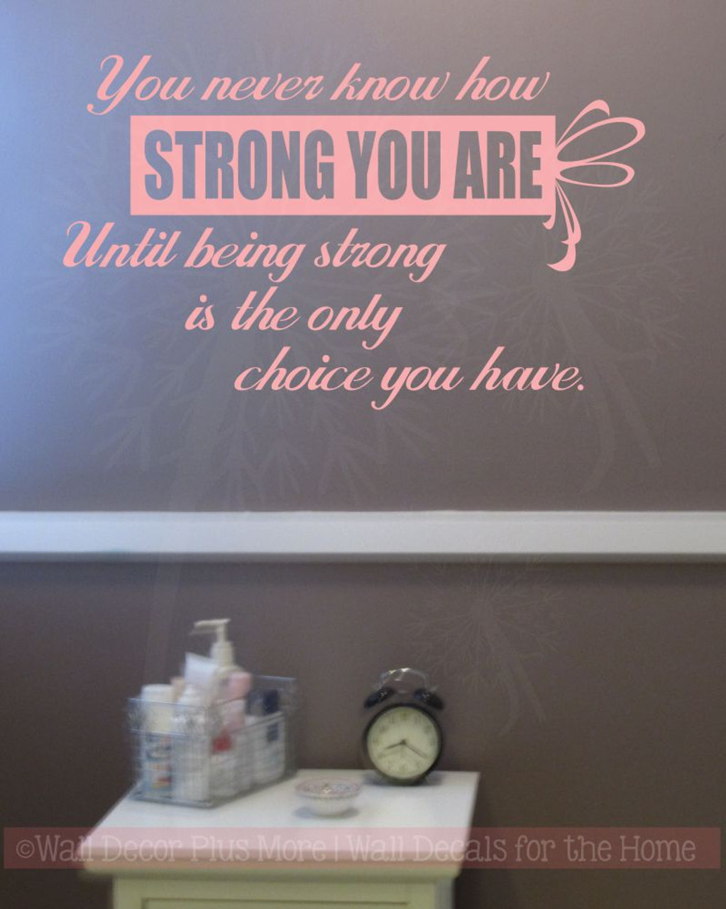 Wall Quotes How Strong You Are Until Only Choice Vinyl Letters Wall Decals Stickers Cancer & Wall Quotes How Strong You Are Until Only Choice Vinyl Letters Wall ...