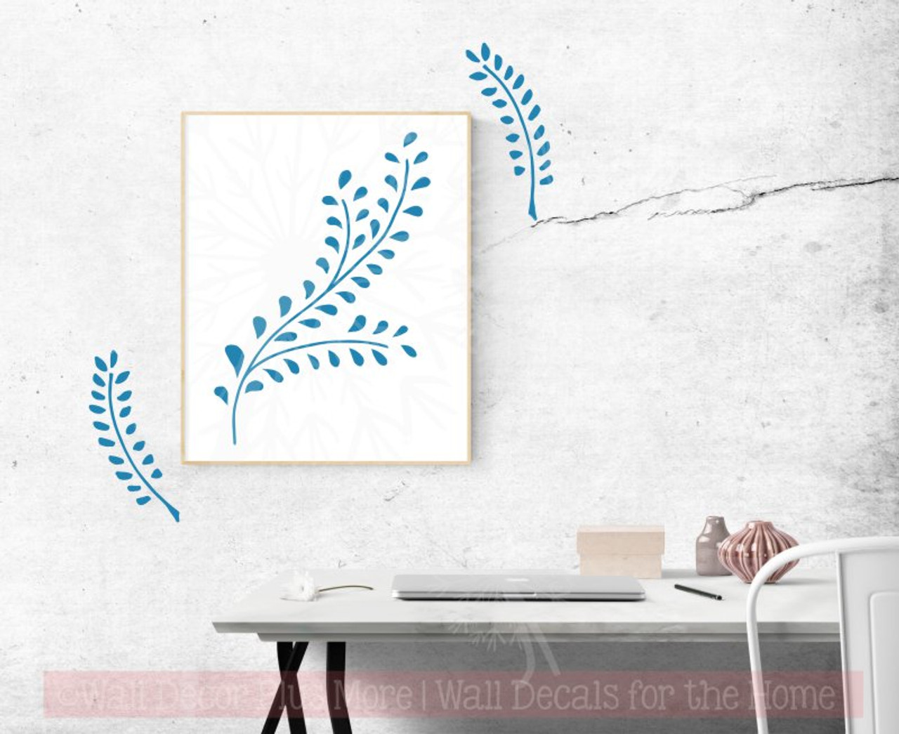 Laurel Leaf Branch Wall Decals Flower Vinyl Art Stickers for Modern Decor  sc 1 st  Wall Decor Plus More & Laurel Leaf Branch Wall Decals Flower Vinyl Art Stickers for Modern ...