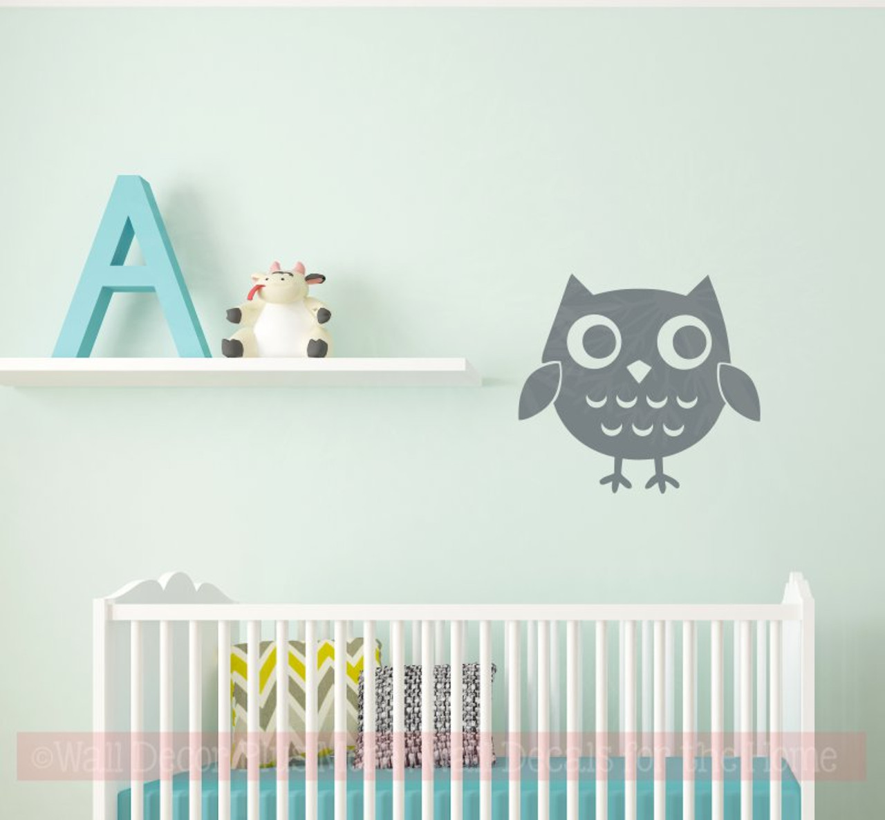 Owl Girls Vinyl Art Decals Bedroom Wall Decor Nursery Sticker Shape
