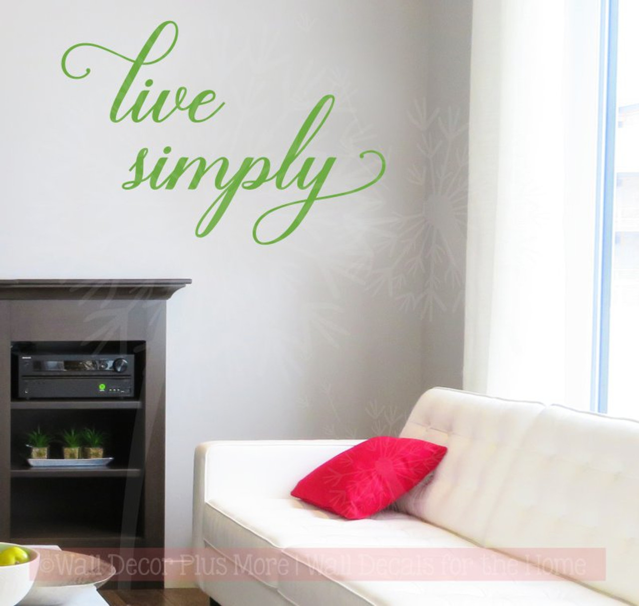 Live Simply Inspirational Vinyl Letters Wall Sticker Decal Home Decor