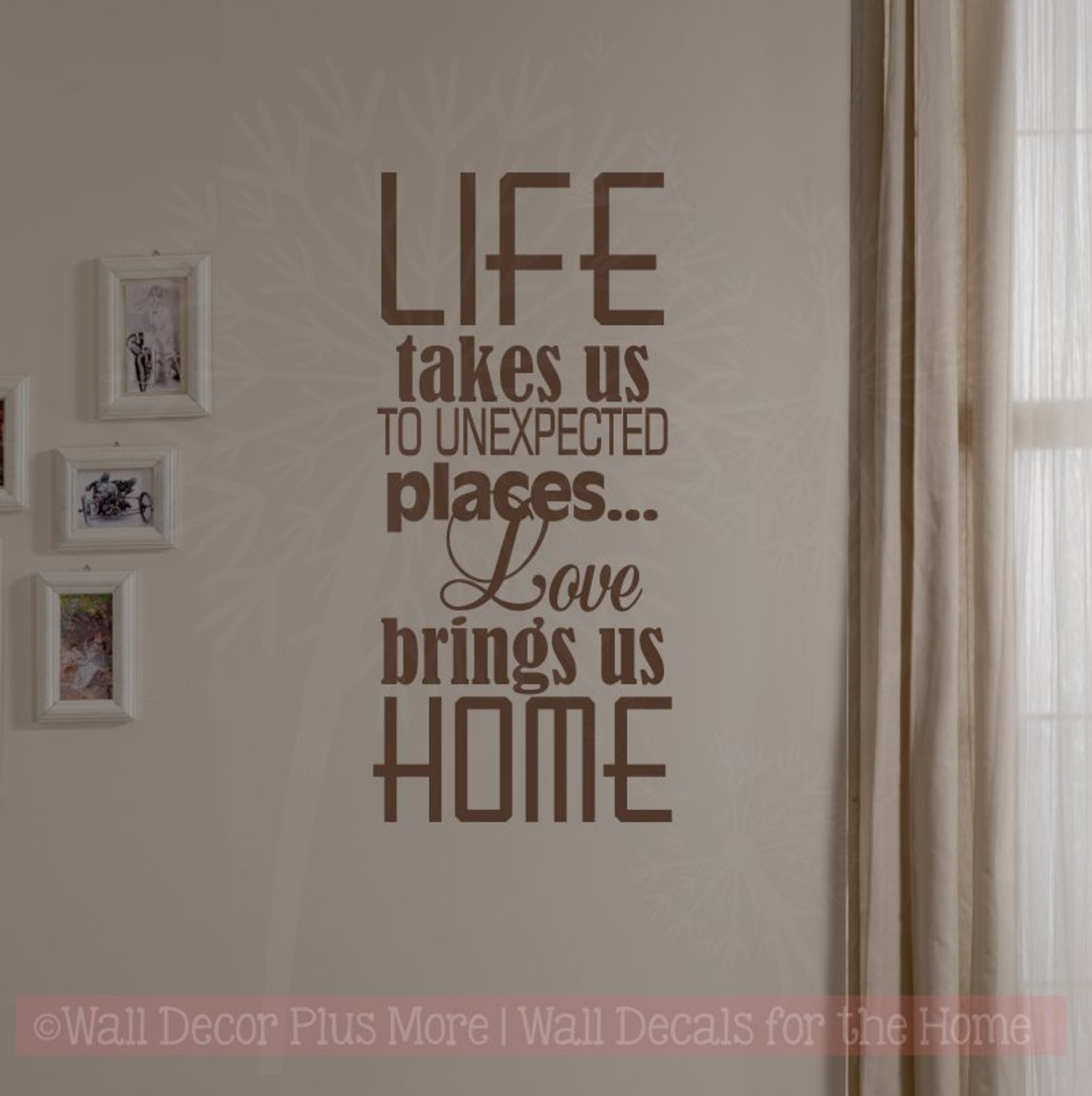 Love Brings Us Home Family Wall Decals Vinyl Lettering Art Wall ...