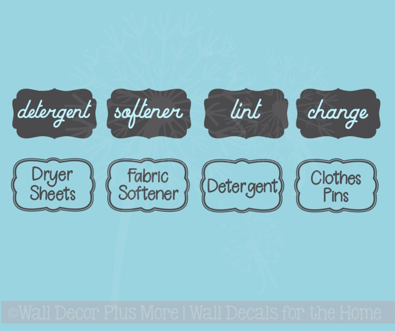 laundry room labels wall art jar stickers set of 4 vinyl decals 2