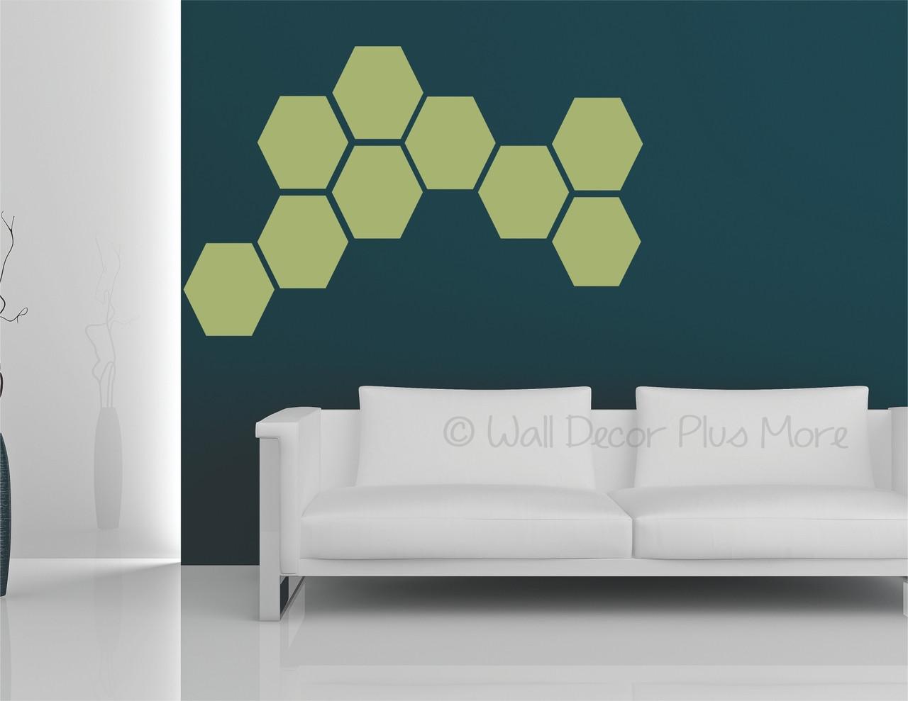 Hexagon Wall Stickers Shapes Vinyl Decals Honeycomb Art Dcor 9inch