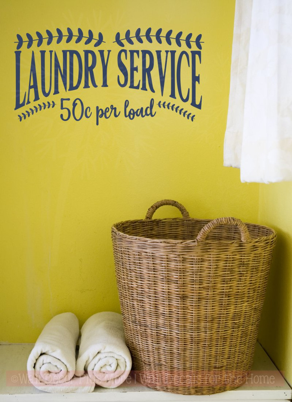 Laundry Service 50cents Vinyl Lettering Decals Laundry Wall Decor