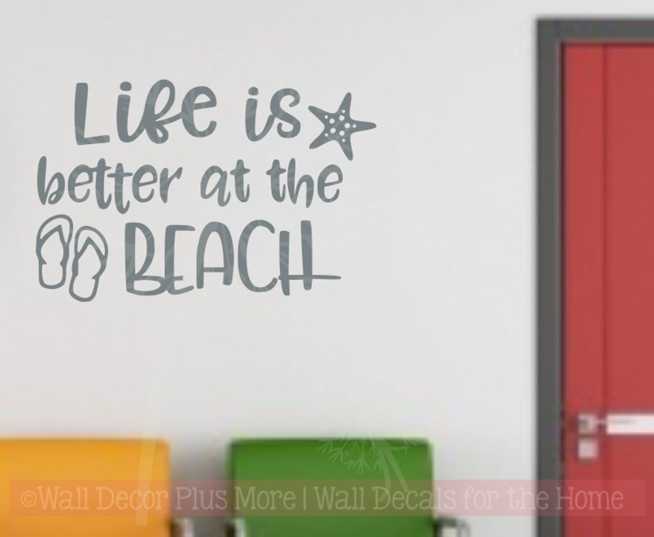 Life Is Better At The Beach Summer Quotes Wall Stickers Rv Vinyl Letters