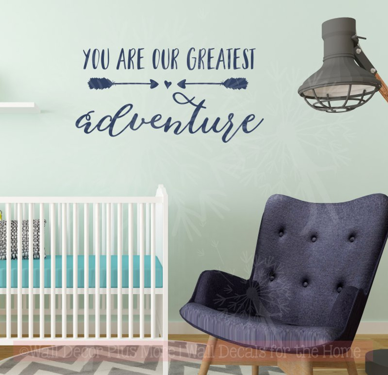 Our Greatest Adventure Baby Wall Decor Vinyl Lettering Nursery Stickers