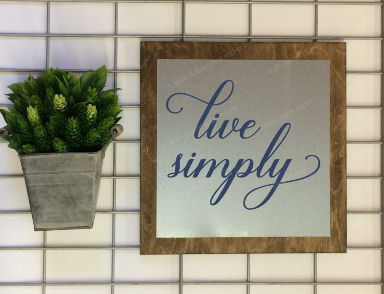 Live Simply Wood Sign Metal with Quote, Hanging Wall Art, 3 Sign ...