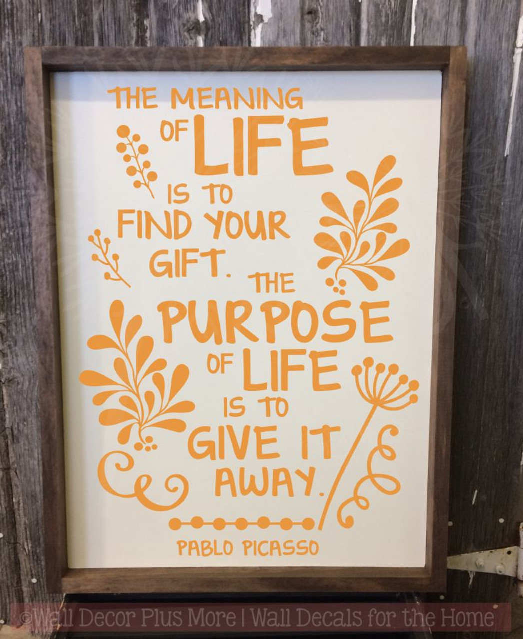 Meaning Of Life Motivational Vinyl Sticker Quotes Inspire Wall Art ...