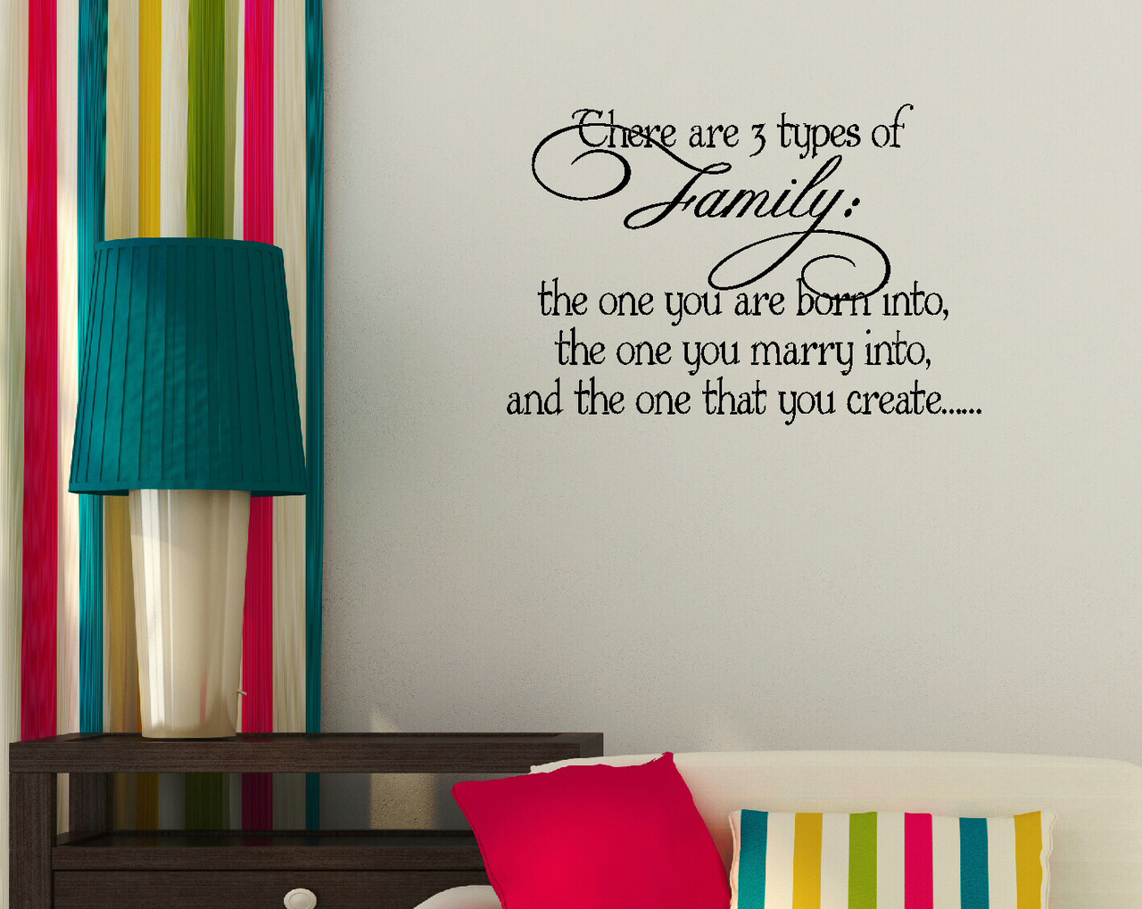 3 Types Of Family Vinyl Wall Sticker Decals Quote Wall Letters for Home Decor
