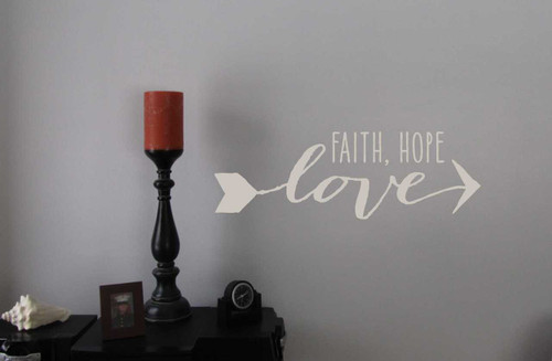 Faith Hope Love with Arrow Design Religious Vinyl Wall Decals Saying ... & Faith Hope Love Modern Wall Decals Graphic with Arrow Design