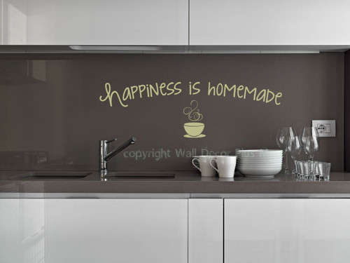 Happiness Is Homemade Saying For The Kitchen Decor, Vinyl Kitchen Wall  Decals ...