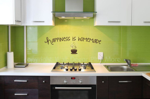 Happiness is Homemade Vinyl Wall Decals Motivational Quotes Kitchen