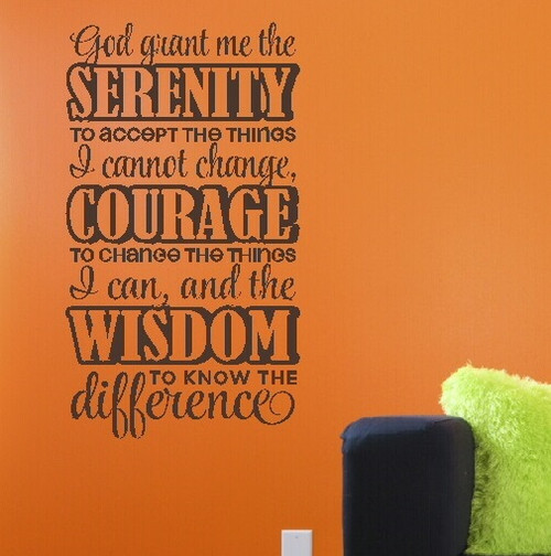 Kitchen Prayer Quotes: God Grant Me Serenity Religious Prayer Wall Decal Stickers