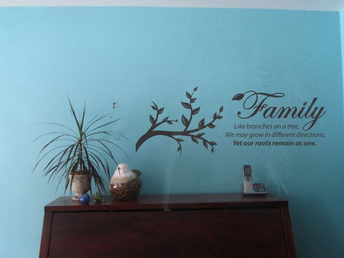 Family - like branches on a tree Wall Decor Vinyl Decals Sticker ...