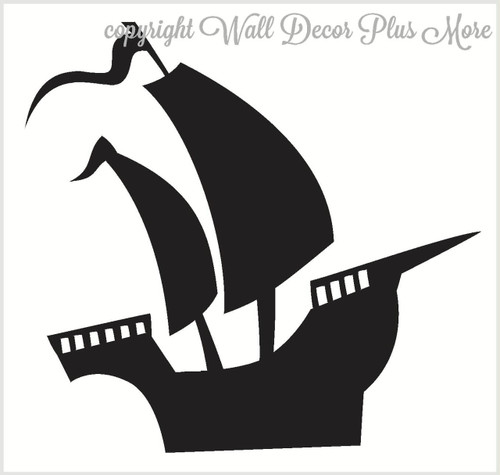 Nautical Pirate Ship Wall Decals Vinyl Stickers for Boys Bedroom Decor