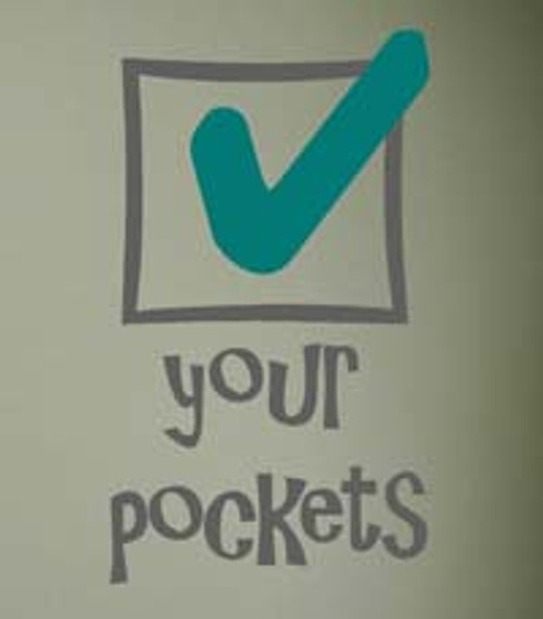 Check Your Pockets Vinyl Wall Decal Stickers Laundry Quote