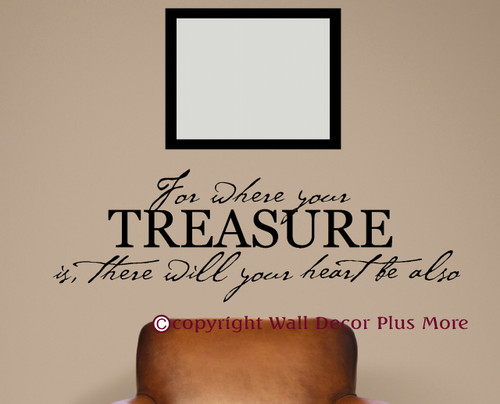 Heart Will Be Also Bible Verse Wall Sticker Decals Wall