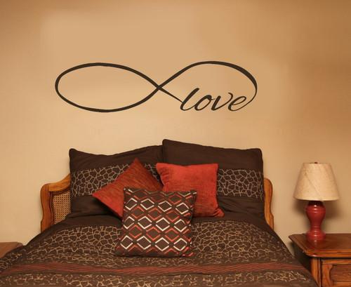 Infinity Love Wall Decals Art Vinyl Sticker For Master Bedroom Or