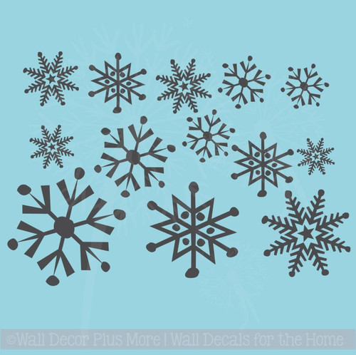 Winter Stickers Wall Decals Large Snowflakes