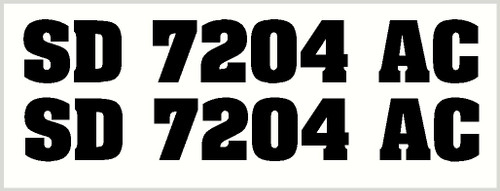 Boat Number Glossy Vinyl Decals Stickers Set of 2, 3-Inch Lettering