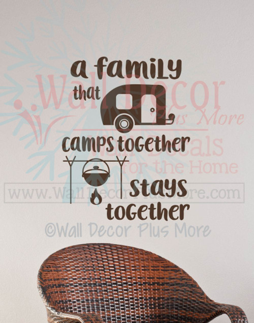 Camper Summer Wall Quotes Decals Family Camps-Chocolate