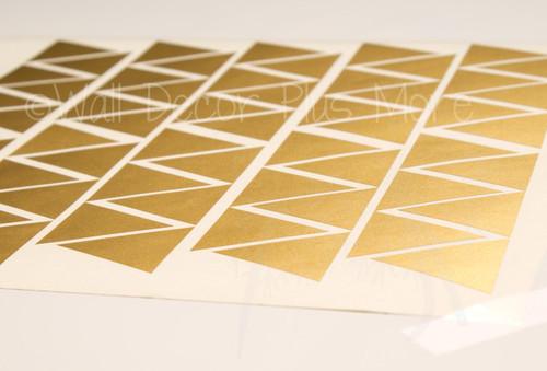 Tiny Triangles Wall Vinyl Sticker Shapes Peel-n-Stick Fun Easy Wall ...