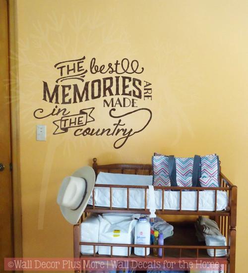 Best Memories Made In Barn Vinyl Art Decals Farm Wall Decor Quote