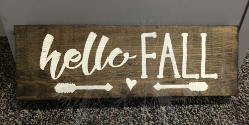 Hello Fall with Arrows Modern Wall Decals Autumn Holiday Wall Stickers