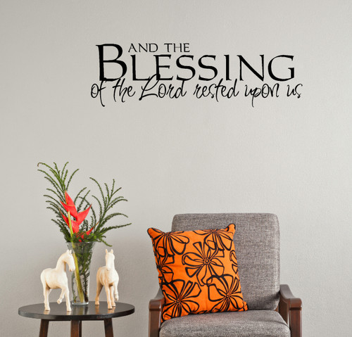Kitchen Blessing Wall Decor: And The Blessing Of The Lord.. Wall Decal Stickers