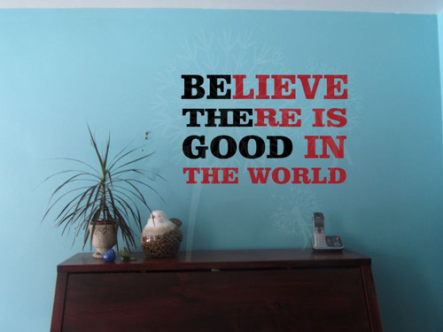 Believe Be the Good 2-color Vinyl Wall Decals Wall Words Stickers-Black Red