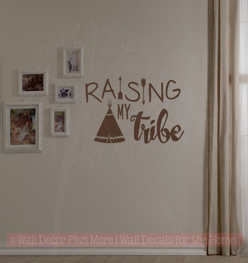 Raising My Tribe Family Wall Decals Home Decor Arrow Vinyl Lettering ...