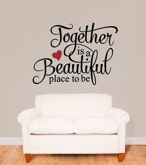 Motivational Inspirational Quotes: This Is Our Happy Place Wall Decal Stickers Vinyl