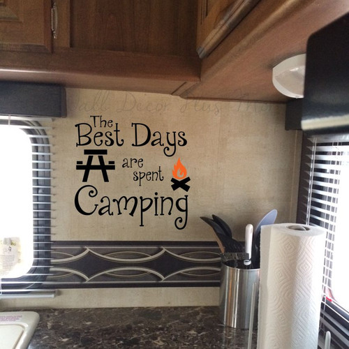 Camper RV Wall Decals Vinyl Stickers Summer Quotes
