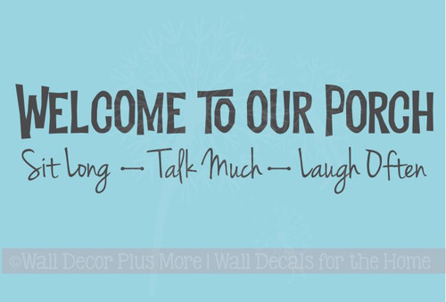 Welcome To Our Porch Wall Decals Quote Vinyl Lettering Stickers Entry Home Decor