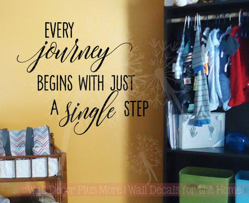 Every Journey Begins With A Single Step Inspirational Wall Decals ...