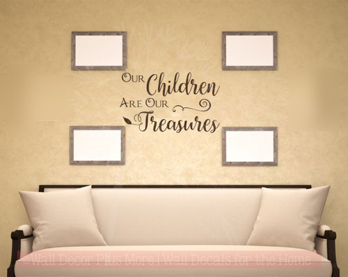 Children Are Our Treasures Vinyl Lettering Stickers Wall Decals ...