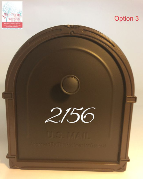 Mailbox Decal Add-On for Front Door Address Vinyl Stickers White Opt3