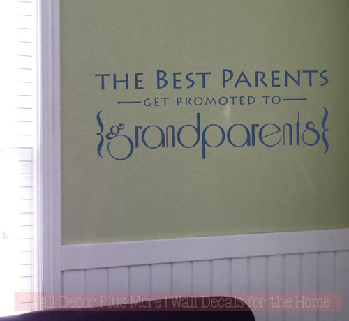 Best Parents Promoted to Grandparents Vinyl Letters Art Wall Decals Stickers Gift-Deep Blue