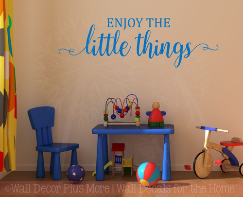 Enjoy The Little Things Wall Decals Vinyl Lettering Stickers Baby Nursery Room Decor Quote