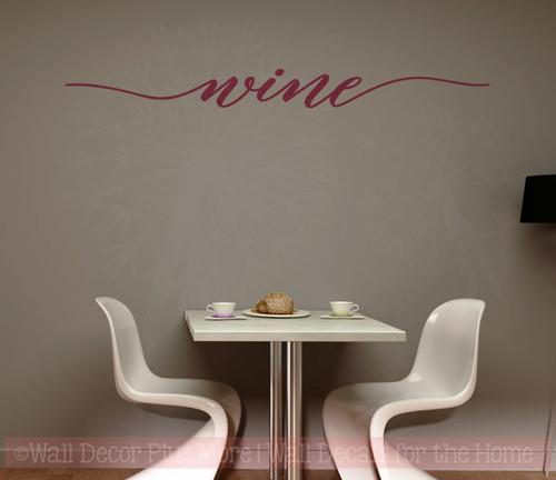 Wine Cursive Wall Sticker Decals Vinyl Lettering Art Kitchen Home Decor-Burgundy