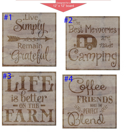stencil sticker decals for 12x12 board painting parties 10 pc 32