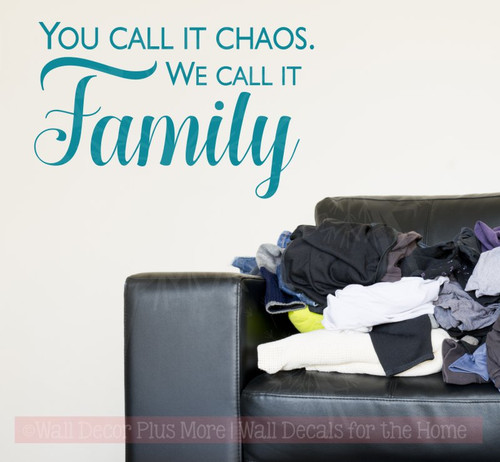 We Call It Family Vinyl Decals Wall Sticker Quotes Farmhouse Decor-Teal