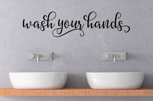 Bathroom Rules Wash Brush Floss Quote Wall Decals Vinyl