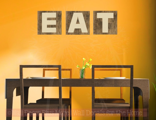 EAT Basic Letters Sticker Kitchen Wall Decor Vinyl Lettering Wall ...