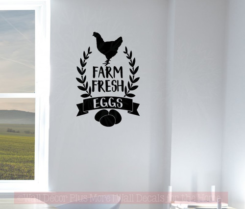 Farm Fresh Eggs Vinyl Art Decals Farmhouse Decor Wall Art Stickers