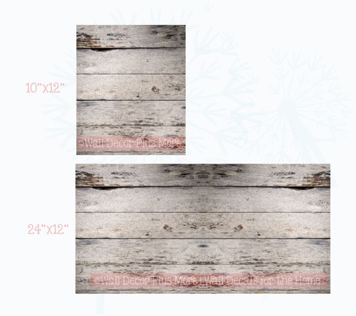 Printed Light Gray Wood Grain Vinyl Sticker Self-Adhesive Liner or Wall Art