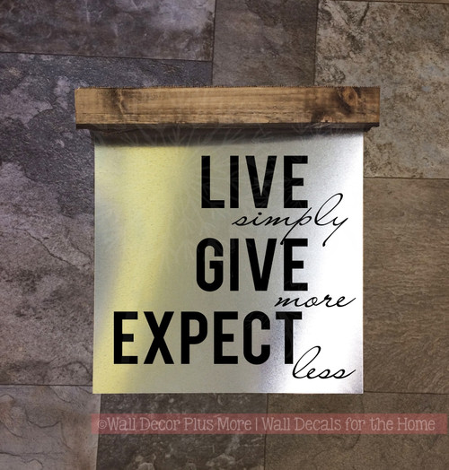 Give More Wood Sign Metal Hanging Wall Art for Home Decor, 3 Sign ...