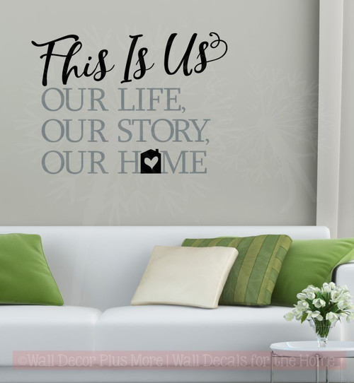This Is Our Home Vinyl Lettering Decals Home Wall Décor Sticker Quotes Black,  Storm